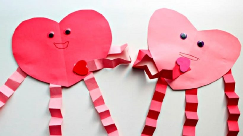 Valentine's crafts for kids: With the preparation process